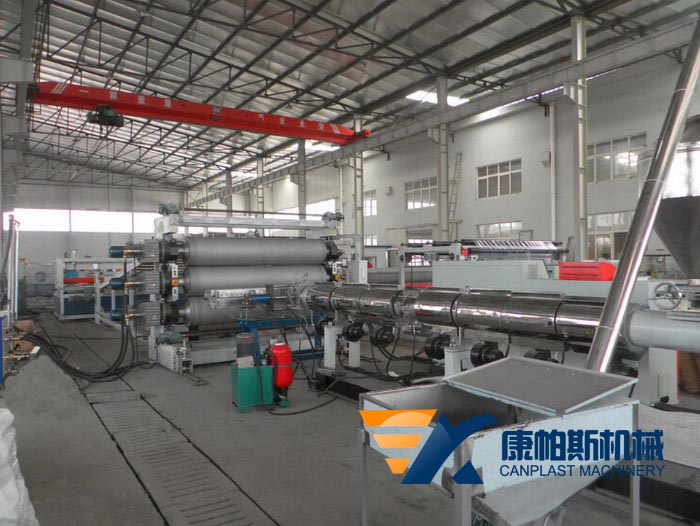 PE, PP, PS, PVC board production line