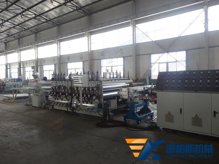 PE,PP,PS,PVC thick board production line